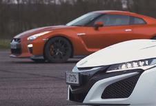 Nissan GT-R vs Honda NSX: wie sprint het snelst?