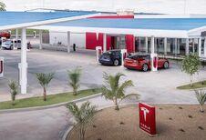 Tesla: Superchargers met nostalgische drive-in