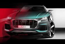 Audi Q8 laat ook zijn snoet zien