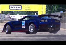 GM-directeur crasht Corvette ZR1-pace car