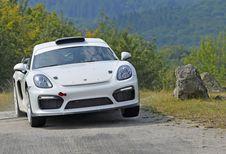 Porsche : un Cayman GT4 de rallye