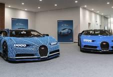 Rijdende Bugatti Chiron in Lego