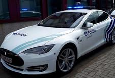 La police de Zaventem en Tesla