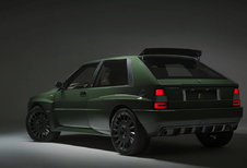 Retromoderne Lancia Delta Integrale heet Futurista