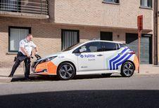 La police d'Ostende en Nissan Leaf