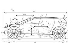 De auto van Dyson als patentschets #1