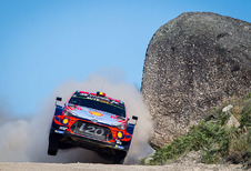 Thierry Neuville voorlopig derde in spannende secondenstrijd rally Portugal