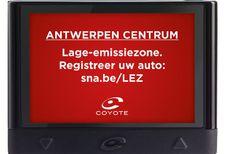 Coyote: update en LEZ-waarschuwing in Antwerpen