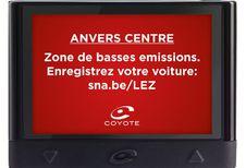 Coyote : mise à jour et alerte LEZ à Anvers
