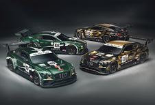 Bentley viert 100ste verjaardag met schitterende kleuren voor GT3-wagens in Spa