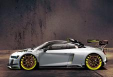 Audi R8 V10 GT2 zet je op het verkeerde been