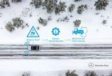 Les Mercedes détecteront le verglas dans le Jura souabe