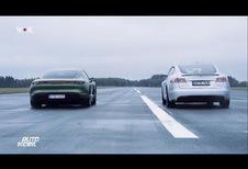 Porsche Taycan vs Tesla S P100D : qui est le plus rapide ?