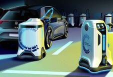 Volkswagen bedenkt robot die mobiel laden mogelijk maakt