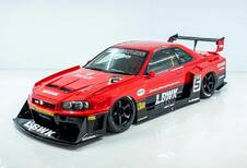 Liberty Walk Nissan Skyline R34 is Japanse tuning op zijn best