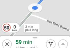 La bonne vitesse sur Google Maps