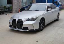 Drôle de bestiole : une BMW Série 5 E60 avec une calandre de nouvelle M3 #1