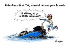 La story d'Audran - Rolls-Toyce Boat Tail, mélange terre-mer