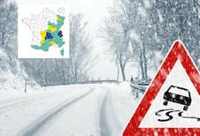 Winterbanden in Frankrijk: overzichtskaart