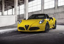 Alfa Romeo 4C Spider: haren in de wind