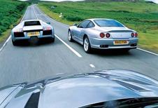 Aston Martin V12 Vanquish, Ferrari 575M Maranello & Lamborghini Murcielago: Ligue des champions