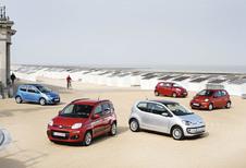Fiat Panda TwinAir 85, Kia Picanto 1.0, Renault Twingo 1.2, Toyota Aygo 1.0 VVT-i et Volkswagen Up 1.0 60 : Quand elles arrivent en ville
