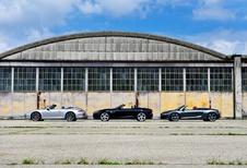Audi R8 Spyder S-Tronic, Jaguar F-Type V8S en Porsche 911 Cabrio Carrera 2S : Terugkeer in triomf