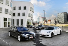 BMW 730d, Jaguar XJ 3.0 TD, Mercedes S 350 BlueTEC en Porsche Panamera Diesel : Het hoogste niveau