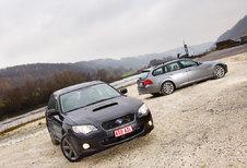 BMW 320dA xDRIVE TOURING • SUBARU LEGACY TOURING WAGON : Toenadering