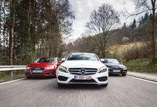 AUDI A4 2.0 TDI 163 // BMW 320D EFFICIENT DYNAMICS EDITION // MERCEDES C 220 BLUETEC : Play-off 1