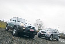 HYUNDAI TUCON 4WD 2.0 CRDI • SUZUKI GRAND VITARA 1.9 DDiS : Goud en zilver