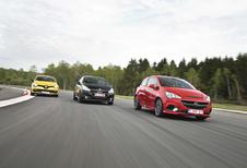 Opel Corsa OPC, Peugeot 208 GTi by Peugeot Sport en Renault ClioRS : Bommetjes op wielen