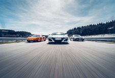 AUDI R8 PLUS // HONDA NSX // MCLAREN 570S : The wild  bunch