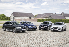 Audi Q5 tegen 3 concurrenten