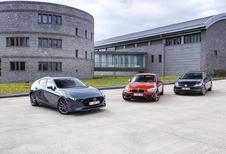 3 Compacte Middenklassers : Mazda 3, BMW 118i et VW Golf