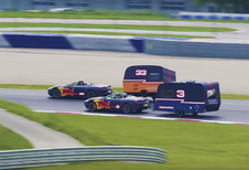 Caravanrace tussen Max Verstappen en Daniel Ricciardo