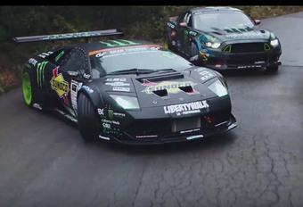 Mustang vs Murciélago : duel de drifts ! #1