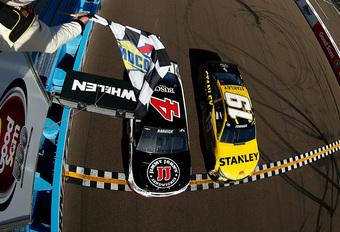 Trekken en vooral duwen in NASCAR-race Phoenix #1