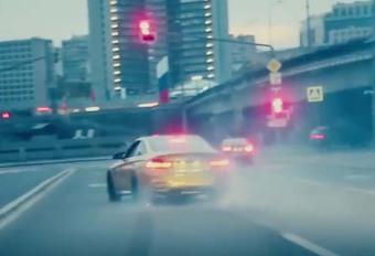 BMW M4: tout en drift à travers Moscou #1