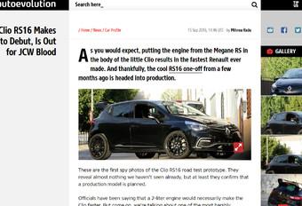 Renault : premiers tours de roues pour la Clio RS 16   #1