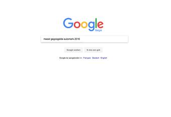 De vaakst gegoogelde automerken van 2016 #1