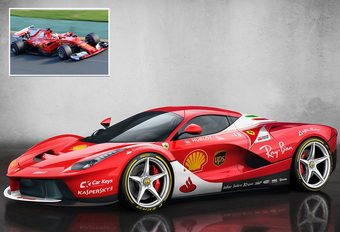 Supercars in F1-oorlogskleuren - van Scuderia LaFerrari tot Alpine Toro Rosso #1