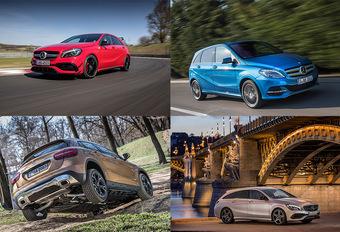 Met de A-, B-, CLA- en GLA-kleintjes van Mercedes door Hongarije #1