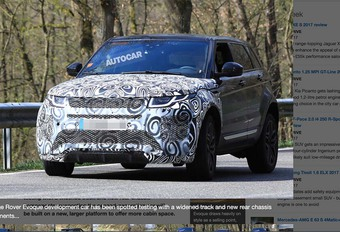Range Rover Evoque 2019 : Il sera plus grand #1
