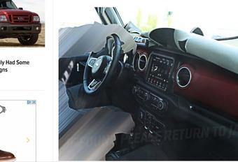 Jeep Wrangler 2018: interieur nu al online te zien #1