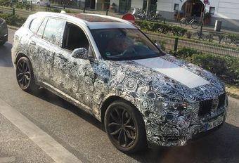 BMW X3-prototype met panoramadak #1
