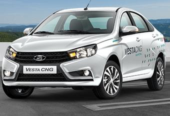 Lada Vesta rijdt op CNG #1