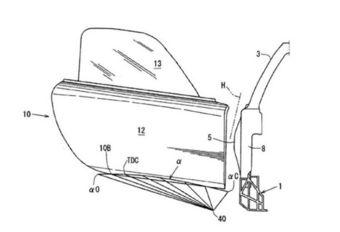 Mazda: patent voor 'zwanenvleugeldeuren' #1