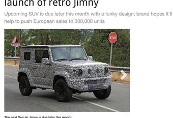Suzuki : Le nouveau Jimny sera rétro ! #1
