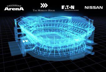 Nissan Leaf-batterijen gerecycleerd in stadion #1